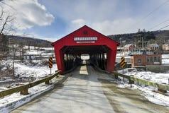 Ponte coperto di Taftsville - Vermont immagine stock libera da diritti