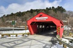 Ponte coperto di Taftsville - Vermont fotografie stock libere da diritti