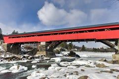 Ponte coperto di Taftsville - Vermont fotografie stock