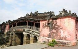 Ponte coperto giapponese del punto di riferimento in Hoi An, Vietnam Immagini Stock