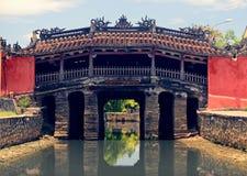 Ponte coperto giapponese in Hoi fotografie stock libere da diritti