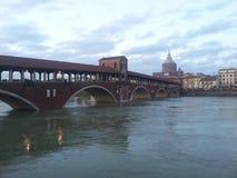 Ponte Coperto Pavía fotos de archivo libres de regalías