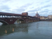 Ponte Coperto Pavia Royalty Free Stock Photos