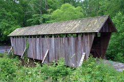 Ponte coperto in Pisgah Co North Carolina immagine stock libera da diritti