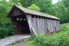 Ponte coperto in Pisgah Co North Carolina fotografia stock