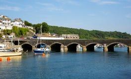 Ponte Cornovaglia Inghilterra di Looe Immagine Stock Libera da Diritti