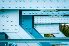 Ponte costruito con metallo fotografie stock