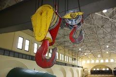Ponte Crane Hooks Fotografie Stock