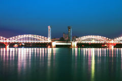 Ponte crepuscular Fotografia de Stock Royalty Free