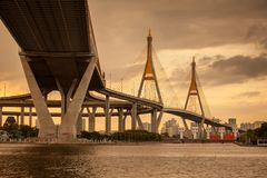 Ponte crepuscular Foto de Stock Royalty Free