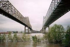 ponte crescente da cidade, Nova Orleães Fotos de Stock