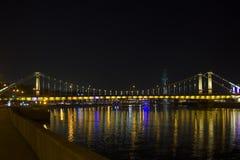 Ponte crimeana em Moscou, Rússia Fotografia de Stock Royalty Free