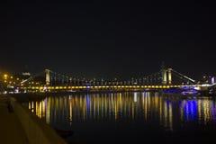 Ponte crimeana em Moscou, Rússia Fotografia de Stock