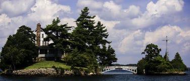 A ponte curto entre Canadá e os EUA Fotos de Stock