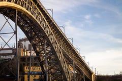 Ponte D 路易斯一世桥梁Underview 免版税库存图片