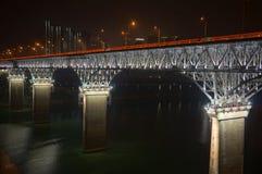 Ponte d'acciaio Fotografia Stock