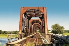 Ponte d'acciaio arrugginito Fotografia Stock Libera da Diritti