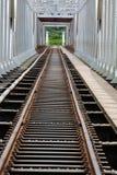 Ponte d'acciaio per il treno Immagini Stock Libere da Diritti