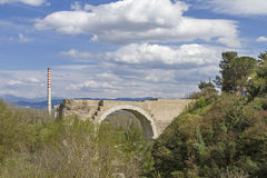 Ponte d' Augusto in Narni Stock Photos