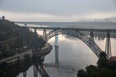 Ponte d Maria Pia Brifge w Porto fotografia royalty free