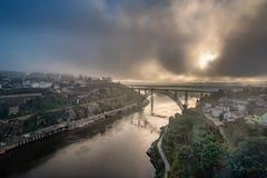 Ponte d Maria Pia Brifge w Porto obraz stock