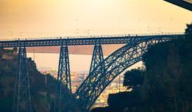 Ponte d Maria Pia S i Ponte Joao zdjęcia royalty free