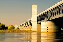 Ponte da água de Magdeburg Fotos de Stock