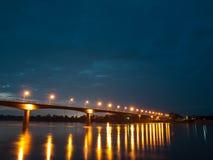 Ponte da amizade do Tailandês-Lao Fotos de Stock Royalty Free