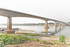 Ponte da amizade, Tailândia - Laos, primeiramente Fotografia de Stock