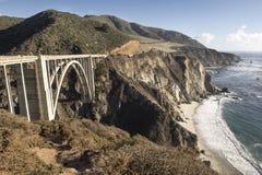 Ponte da angra de Bixby, Big Sur Foto de Stock Royalty Free