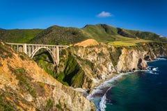 Ponte da angra de Bixby, em Big Sur fotos de stock royalty free