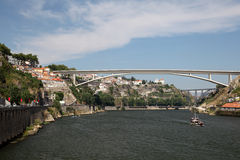 Ponte da Arrabida Bridge in Porto Royalty Free Stock Photos