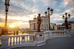 Ponte da arte em Skopje Fotos de Stock Royalty Free