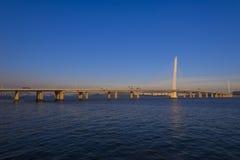 Ponte da baía de Shenzhen foto de stock