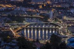 Ponte DA Barca Pontevedra Γαλικία Ισπανία στοκ εικόνα