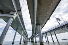 Ponte da beira entre Hong Kong e Shenzhen Fotografia de Stock Royalty Free