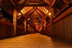 Ponte da capela da lucerna na noite Imagem de Stock