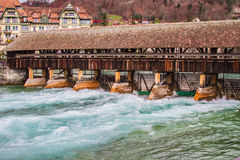 Ponte da capela em Luzern, Switzerland Fotografia de Stock