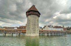 Ponte da capela, Lucerne Fotos de Stock Royalty Free