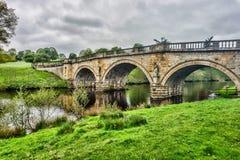 Ponte da casa de Chatsworth Fotos de Stock Royalty Free