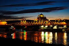 Ponte da cena da noite Fotografia de Stock