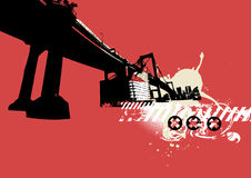 Ponte da cidade. ilustração stock
