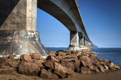 Ponte da confederação, PEI, Canadá Imagem de Stock