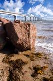 Ponte da confederação, príncipe Edward Island, Canadá Fotos de Stock Royalty Free