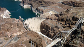 Ponte da construção no barragem Hoover Imagens de Stock Royalty Free