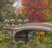 Ponte da curva em New York City, Central Park Manhattan imagem de stock royalty free