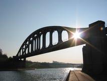 Ponte da estrada de ferro fotografia de stock royalty free