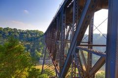Ponte da estrada de ferro fotografia de stock