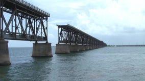 Ponte da estrada de ferro de Bahia Honda, Florida video estoque