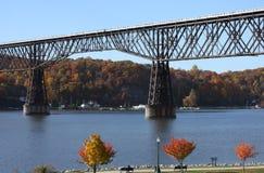 Ponte da estrada de ferro de Poughkeepsie foto de stock